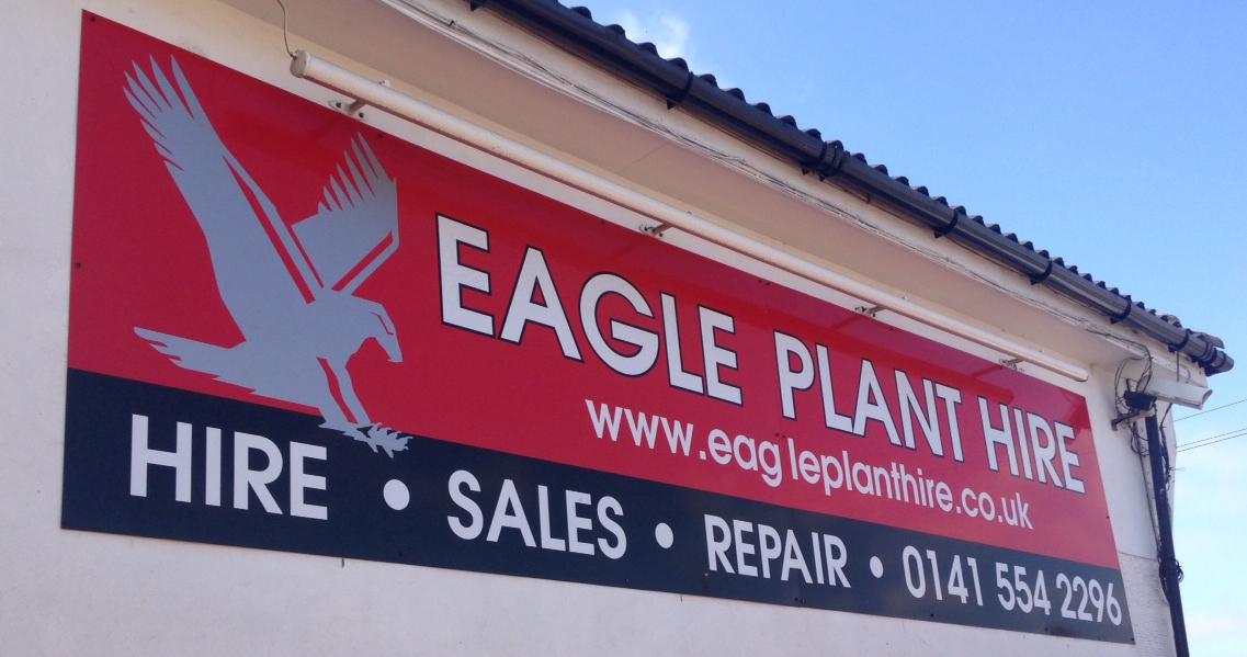 EAGLE PLANT HIRE SIGN